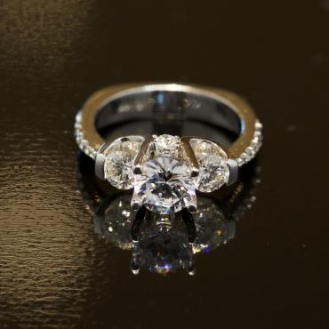 3 Stone Engagement Ring